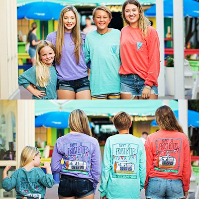Happy Is Long Sleeve T-Shirt at Frost Bites Seaside
