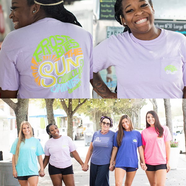 """Sun always shines"" Short Sleeve at Frost Bites Seaside for 2020"
